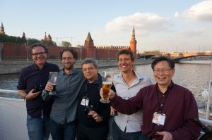A meeting of doctors on the river in Moscow on April 29th, 2013 to discuss Space THz technology